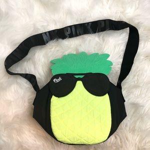 Pink Victoria's Secret Pineapple Purse/Lunch Bag